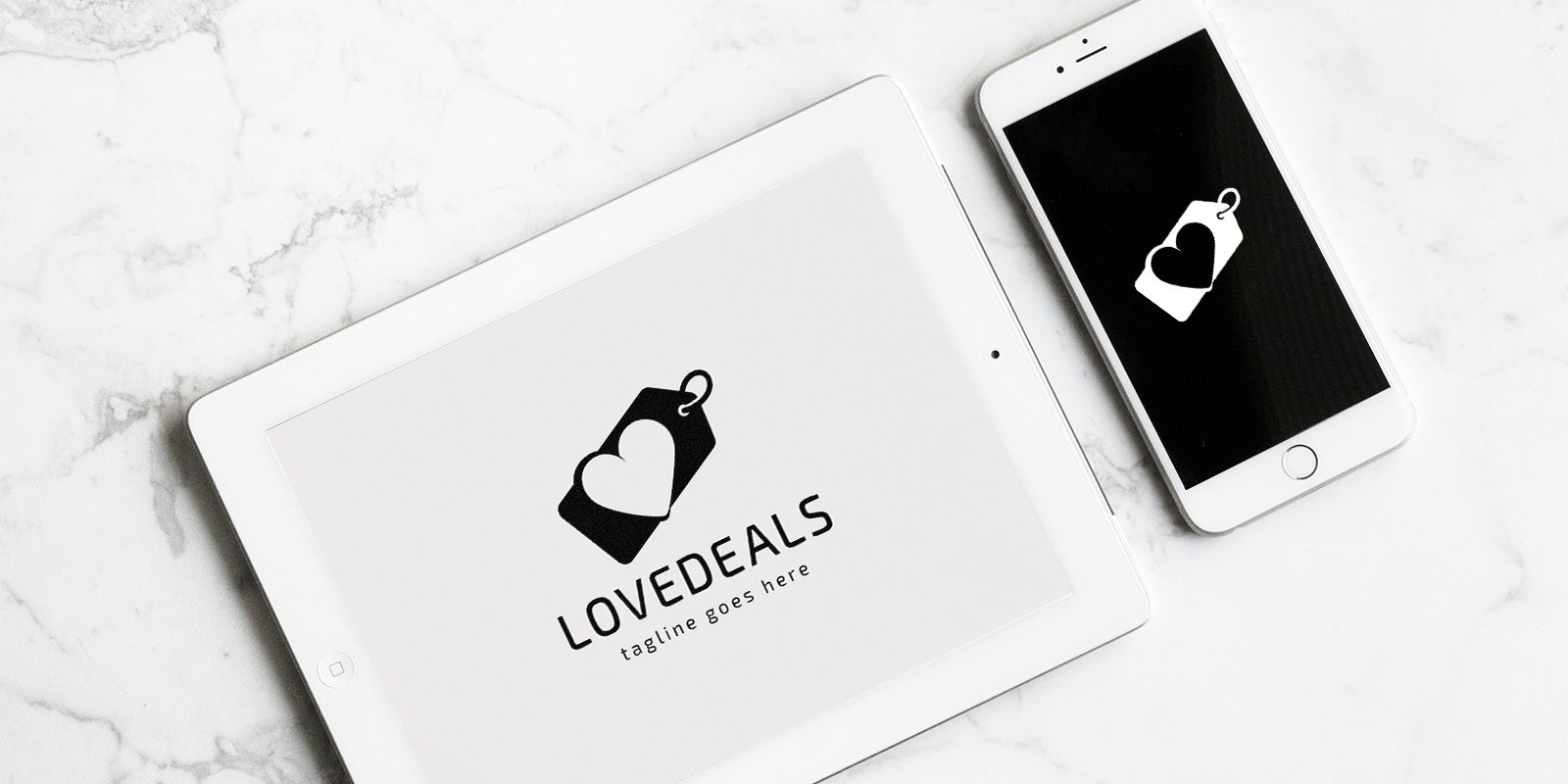 Love Deals Logo Template Screenshot 1