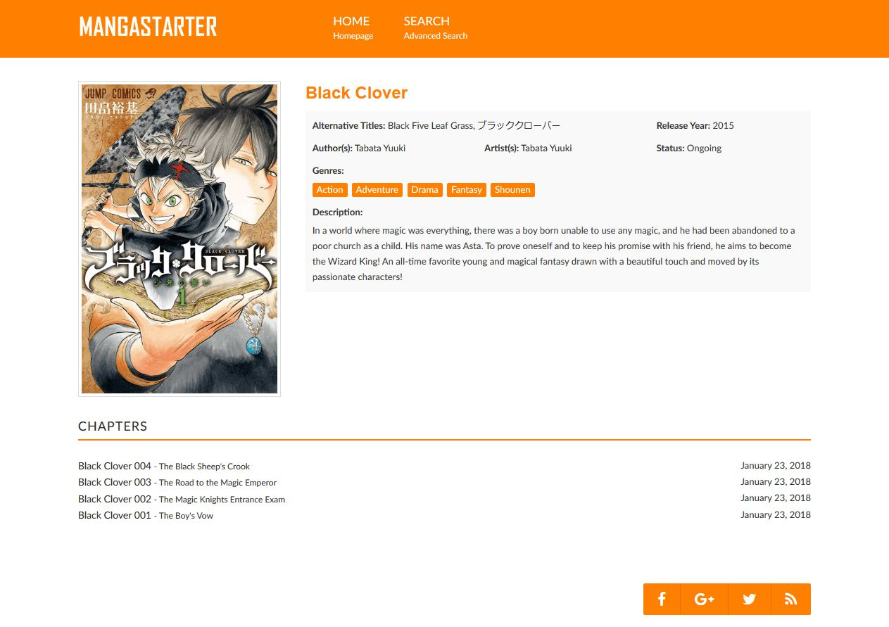 MangaStarter - Build a Manga Reader with WordPress Screenshot 2