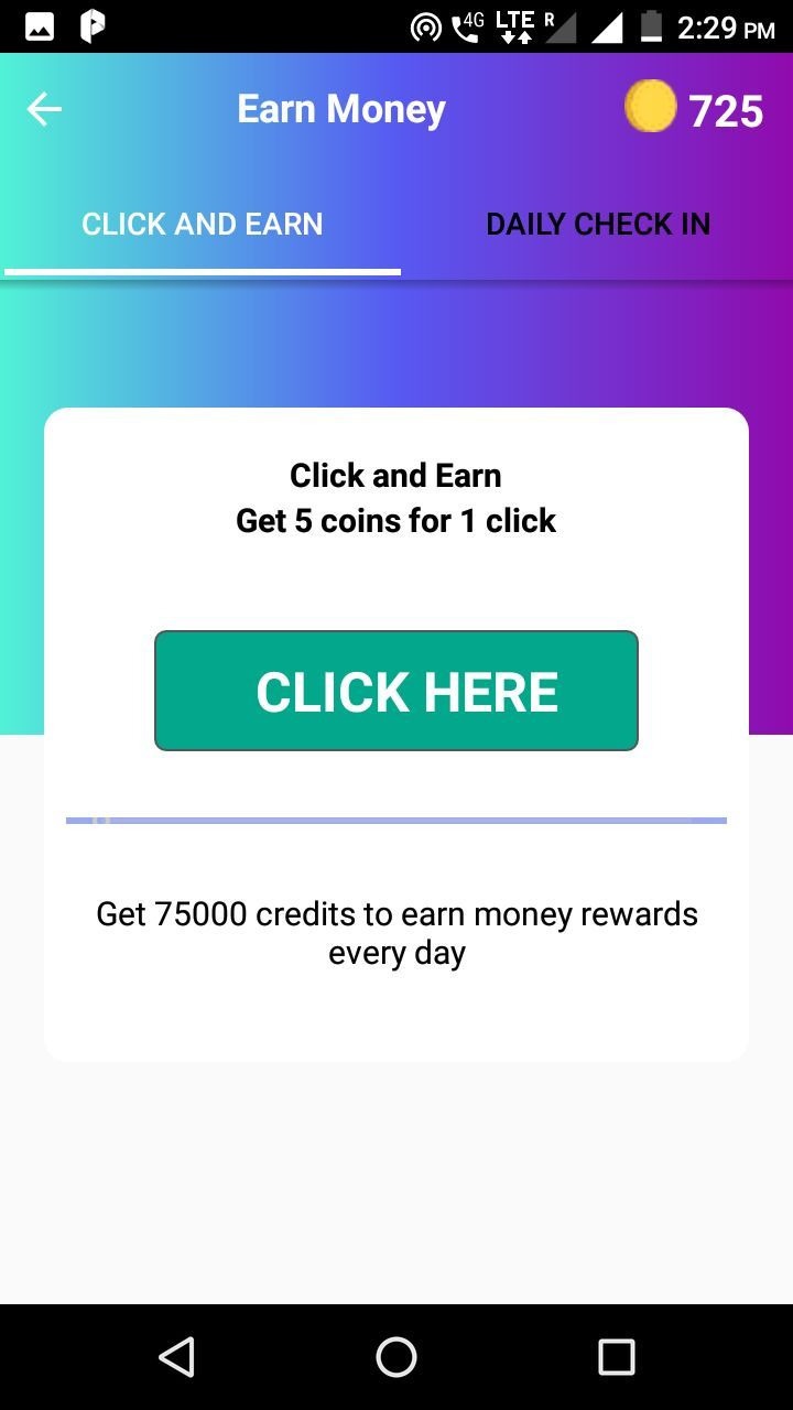 Tap And Earn Rewards App - Android Source Code Screenshot 1