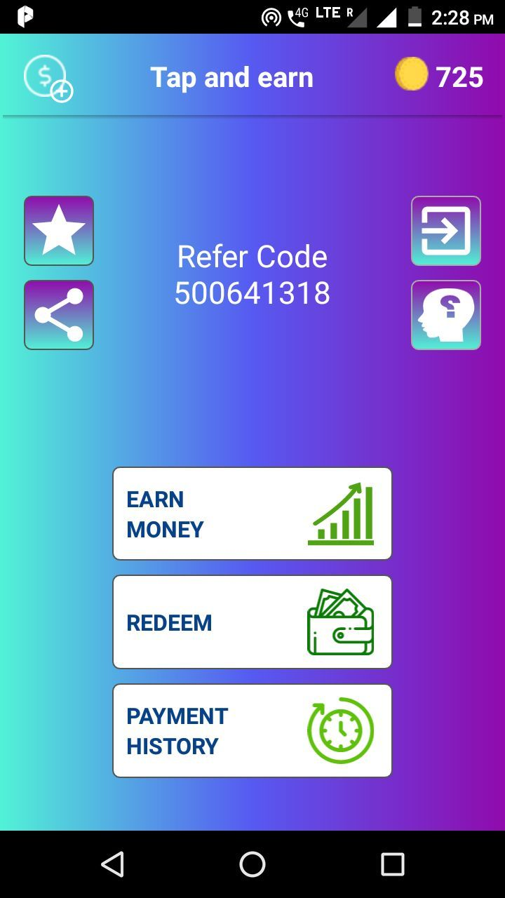 Tap And Earn Rewards App - Android Source Code Screenshot 3