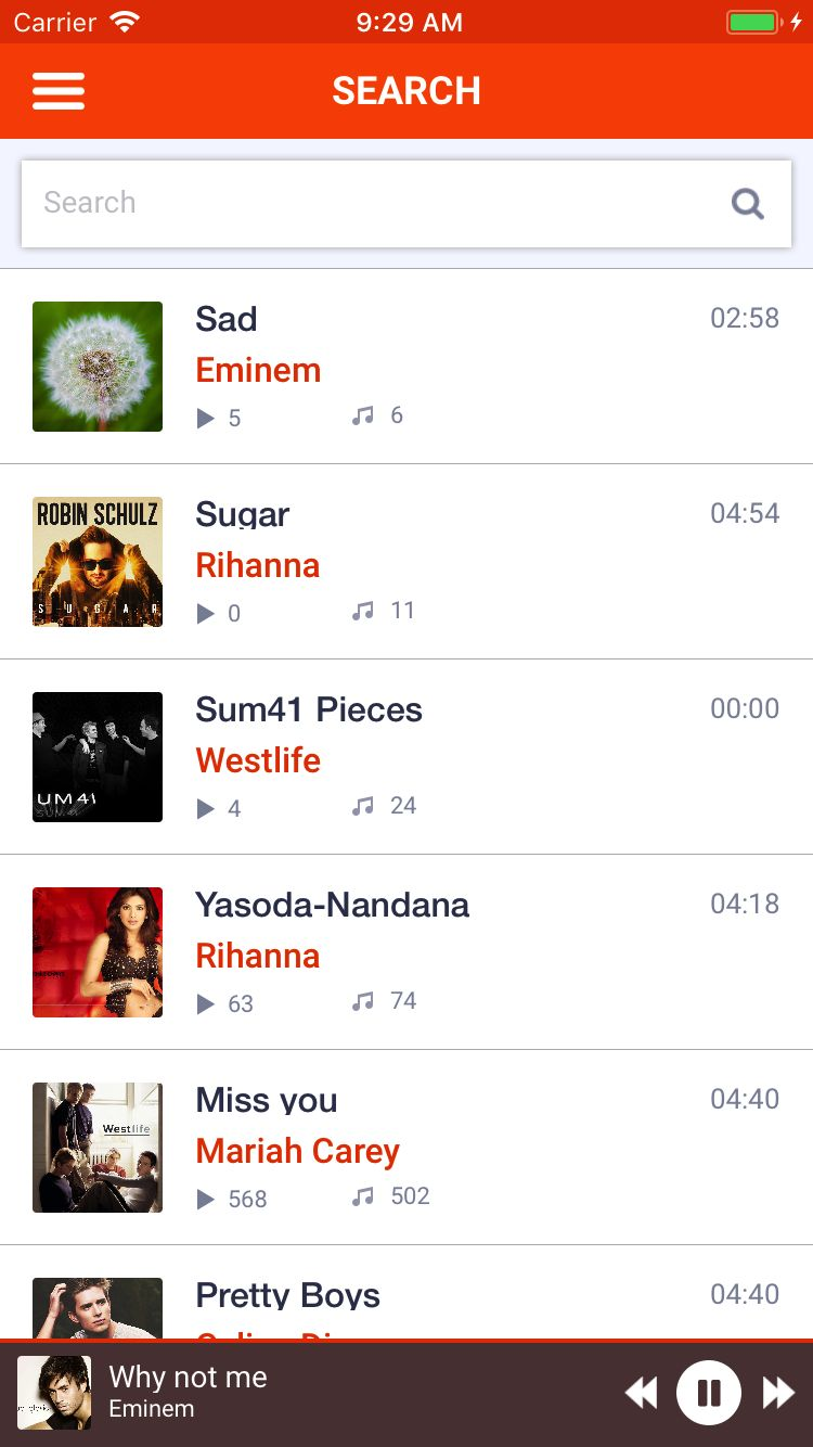 Music MP3 - iOS App Source Code Screenshot 11