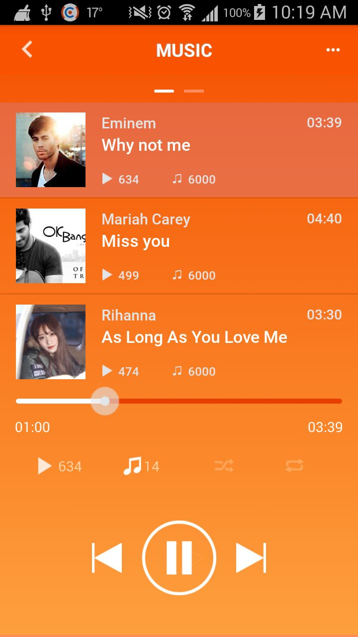 Music MP3 - Android App Source Code Screenshot 2