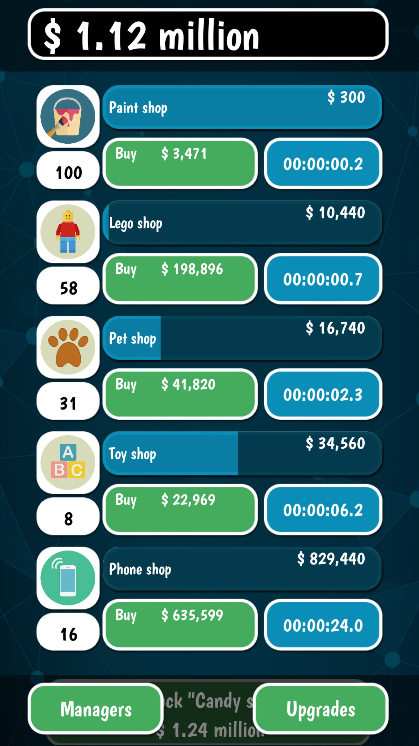Idle Tycoon Clicker - Unity Source Code