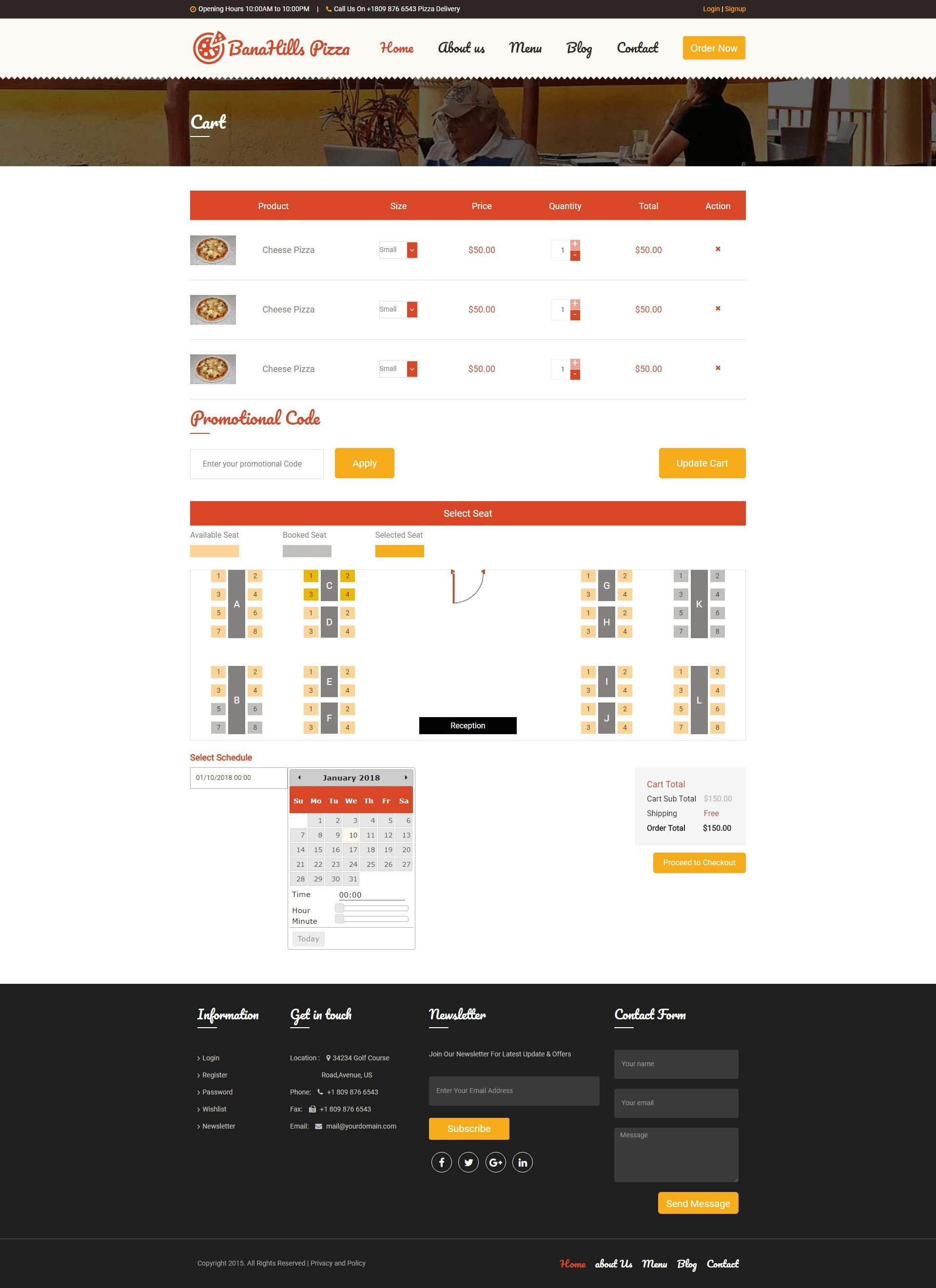 Pizza - Restaurant Table Booking HTML Template Screenshot 4