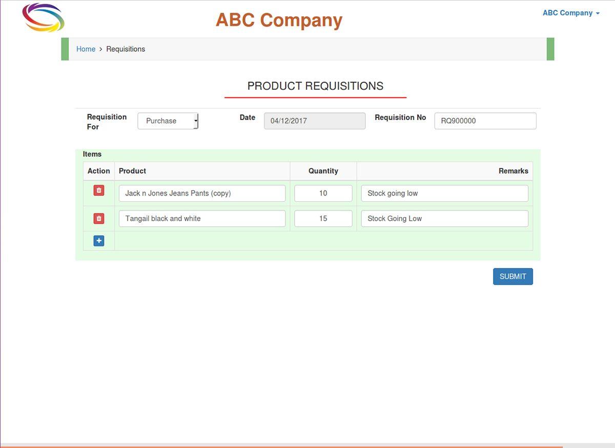 Sistem Tampilan Inventory Management System PHP 5