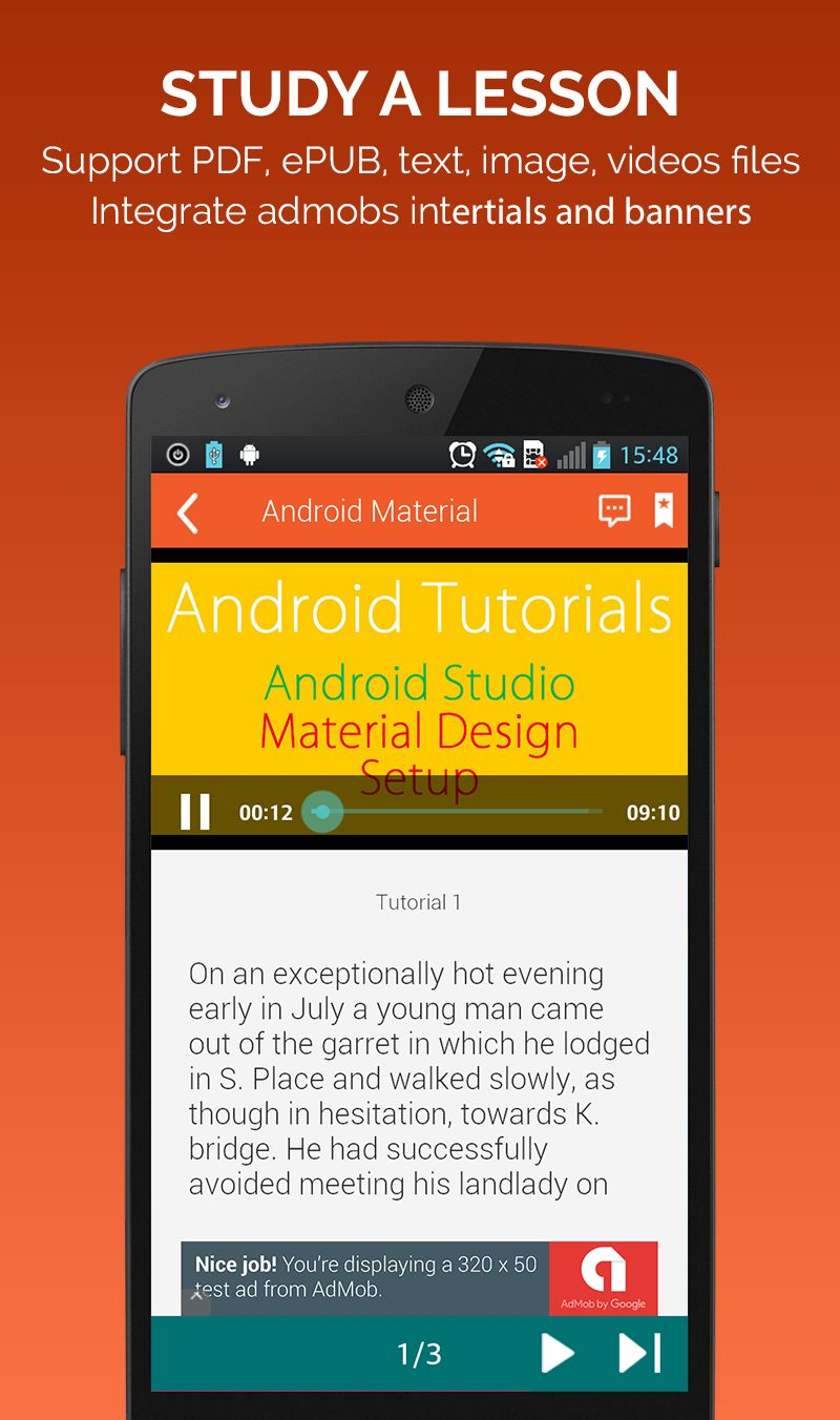 Learning Course - Android App Source Code Screenshot 2