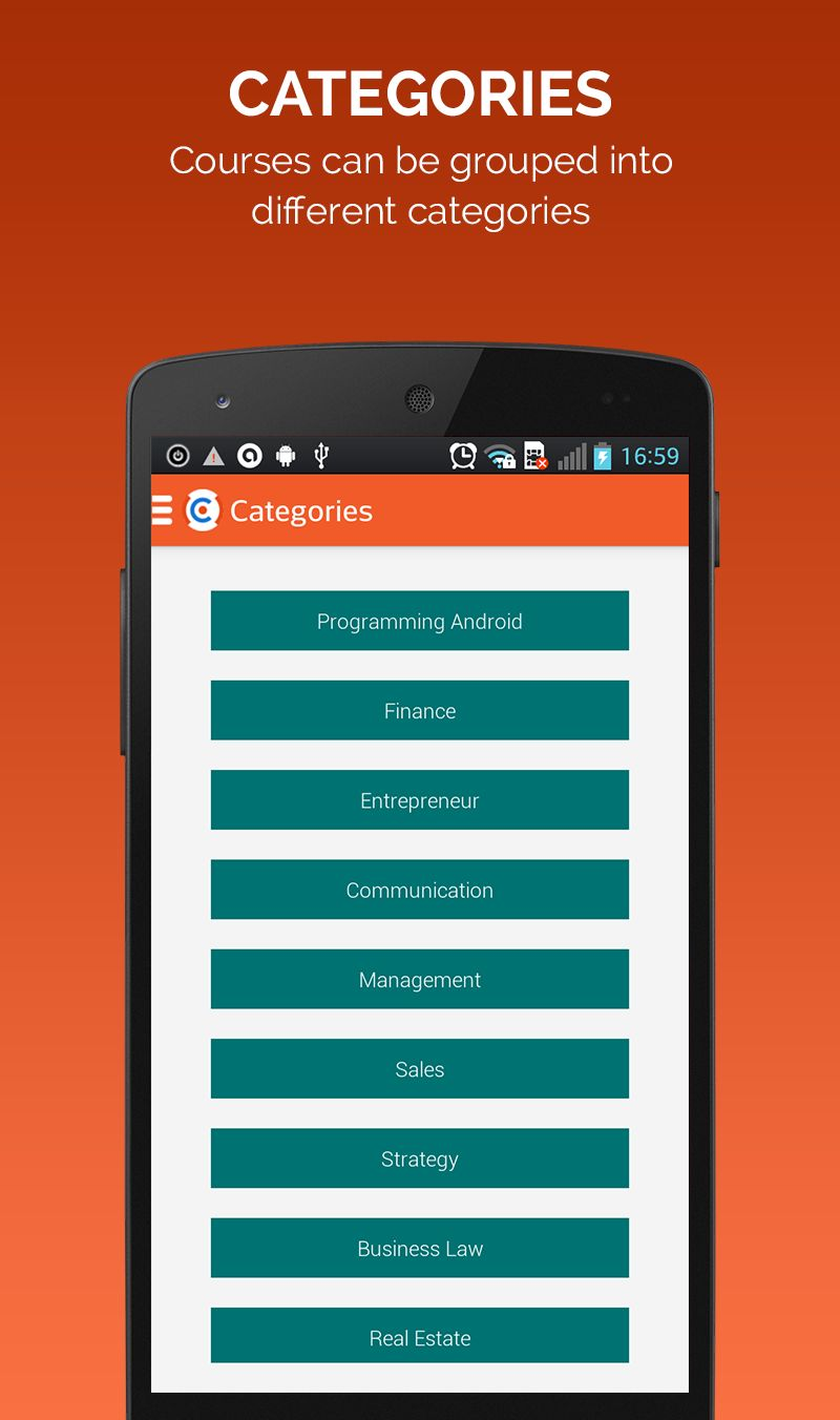 Learning Course - Android App Source Code Screenshot 5