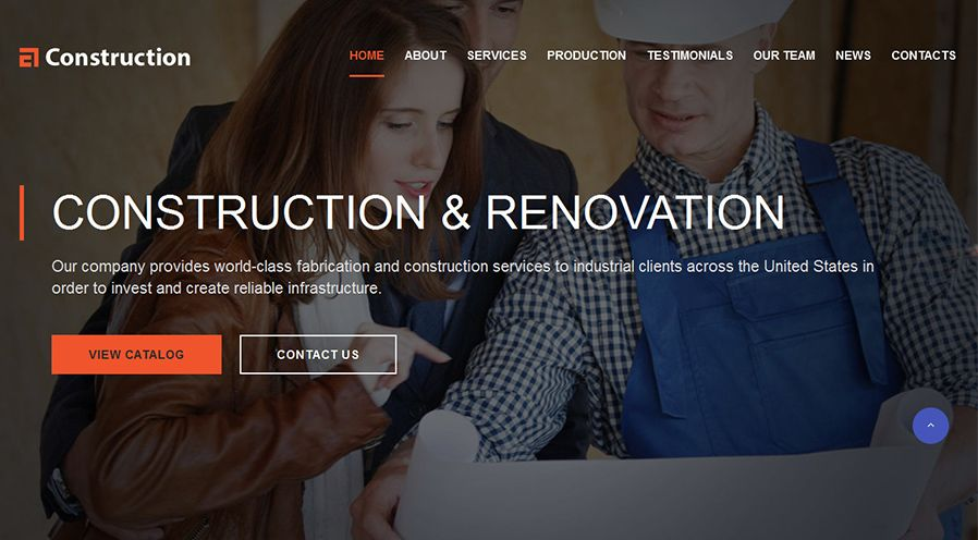Construction - Construction Web Template Screenshot 1