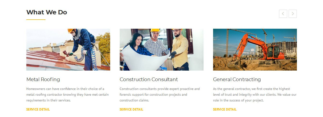 Construction - Construction Web Template Screenshot 3