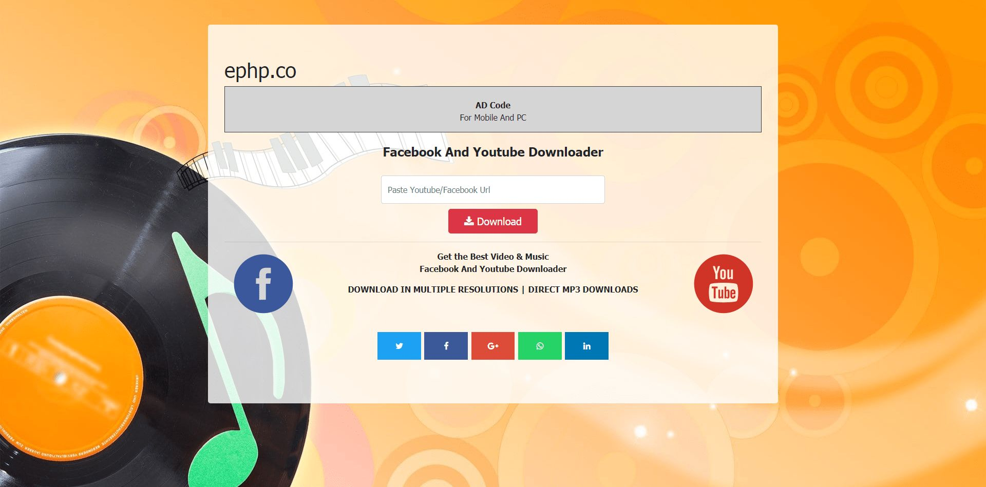 FaceTube - Facebook Youtube Video Downloader Screenshot 2