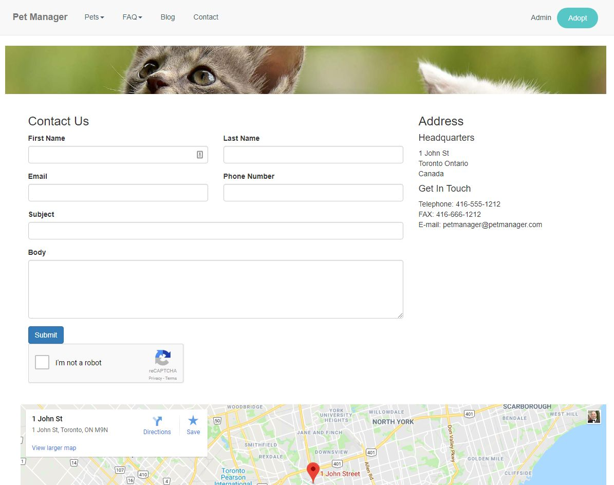 Pet Manager Adoption Script PHP Screenshot 2