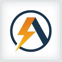 Letter A Bolt - Logo Template