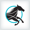 black-horse-logo-template