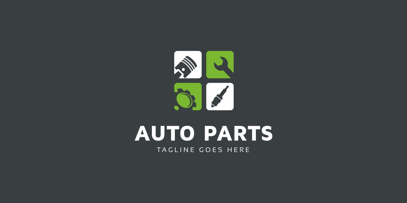 Auto Parts Logo Template Screenshot 2