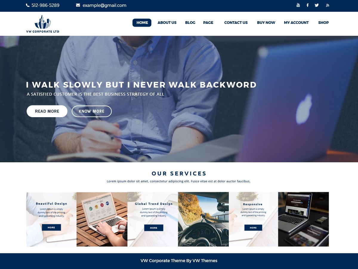 VW Corporate Pro - WordPress Theme Screenshot 1