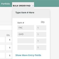 Bulk Order Form - Virtuemart Plugin