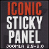 Iconic Sticky Panel Module for Joomla