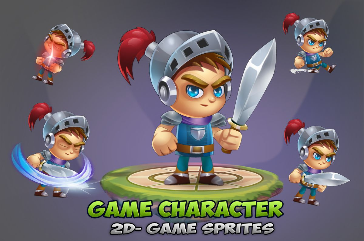 Knight Game Character Sprites 01 Screenshot 1