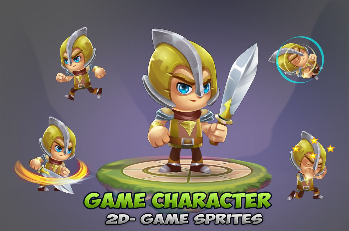 Knight 2D Game Character Sprites 02 Screenshot 1