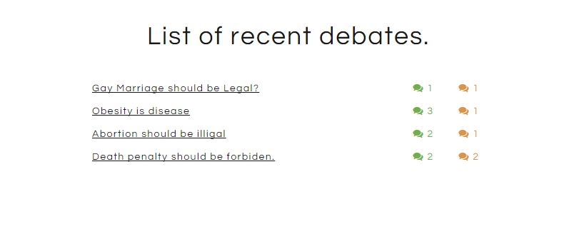 Agree Disagree Debates Wordpress Plugin Screenshot 1