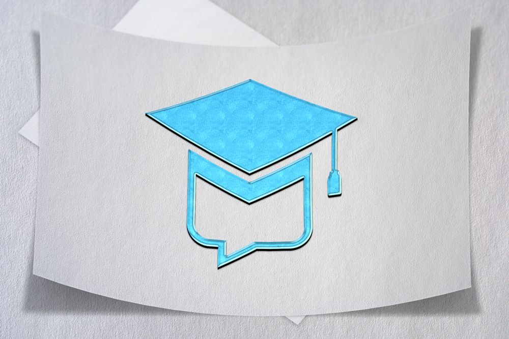 Education Chat Logo Template Screenshot 2