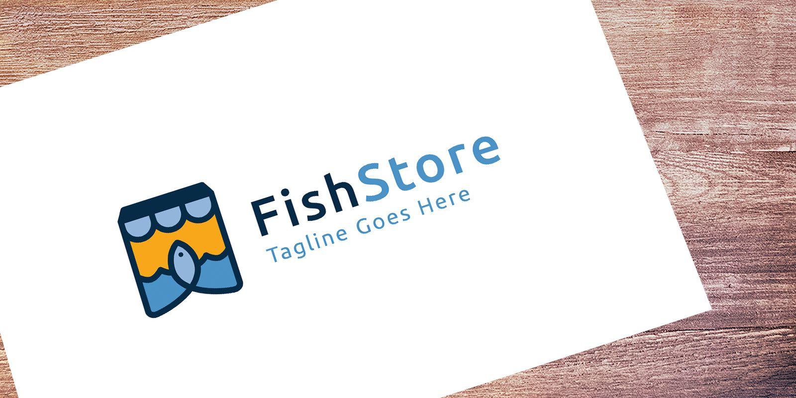 Fish Store - Logo Template | Codester