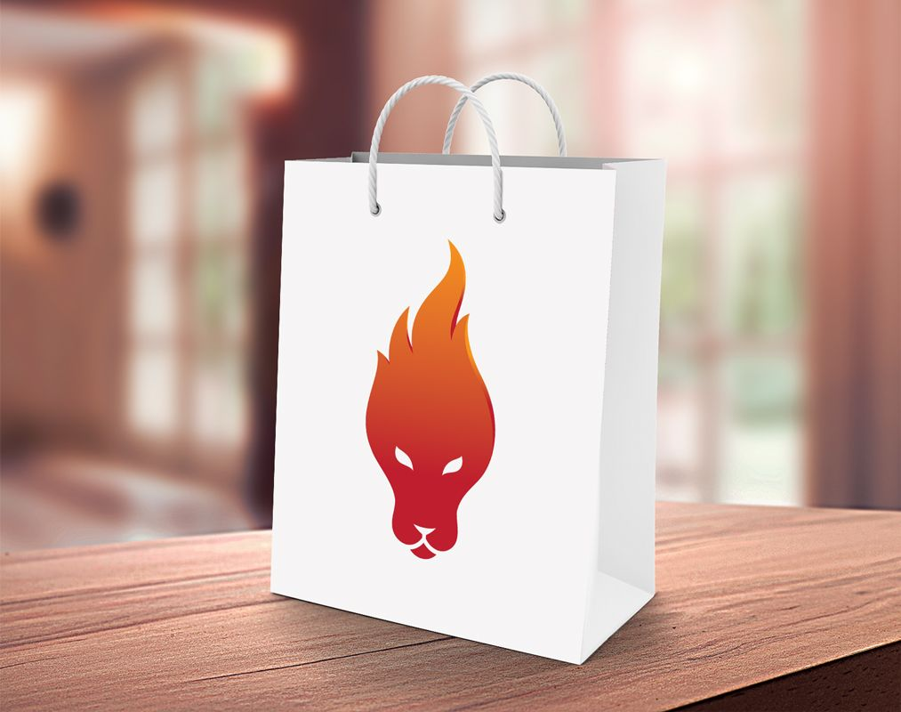 Lion Fire - Logo Template Screenshot 4