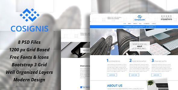 Cosignis - Multipurpose Business Consulting PSD Screenshot 1