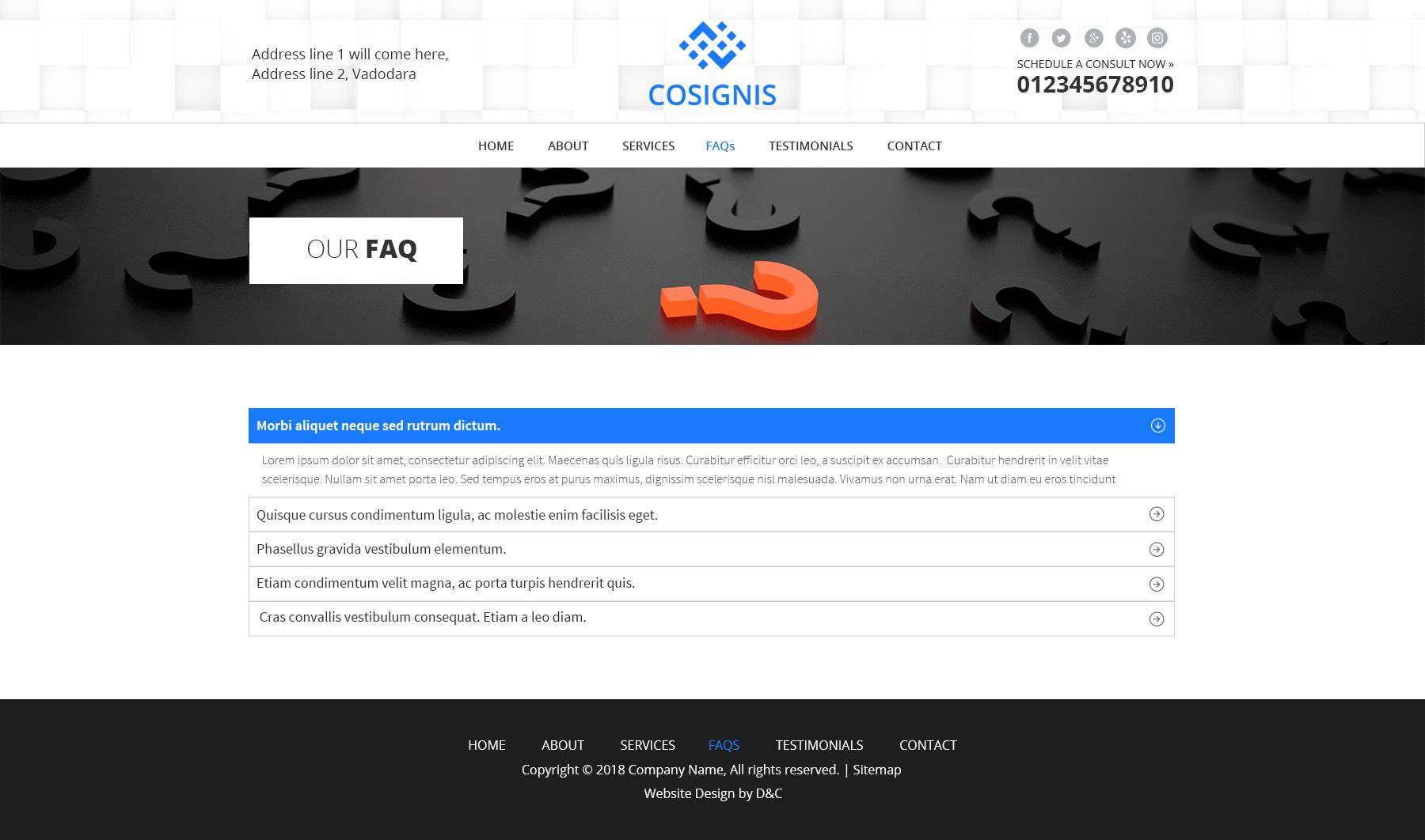 Cosignis - Multipurpose Business Consulting PSD Screenshot 5