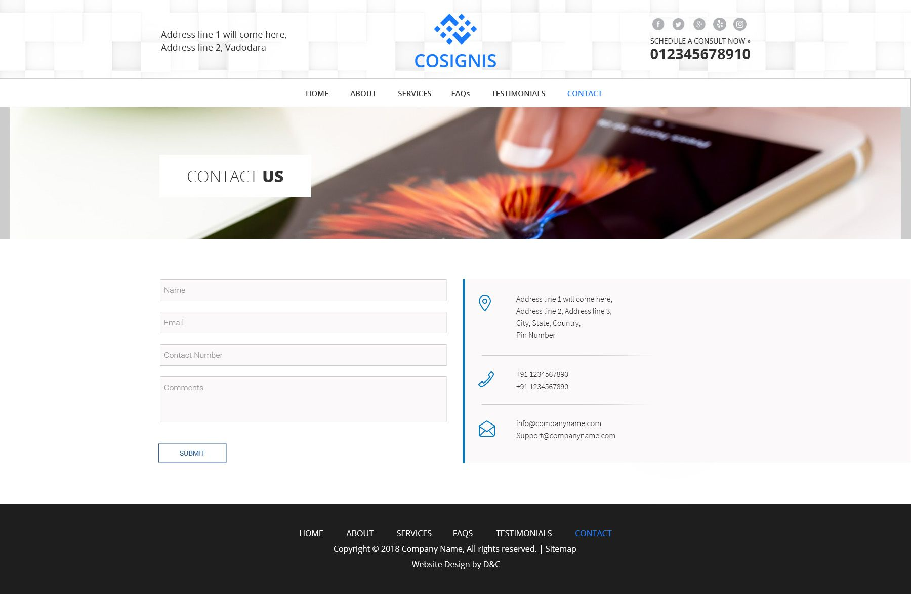 Cosignis - Multipurpose Business Consulting PSD Screenshot 7