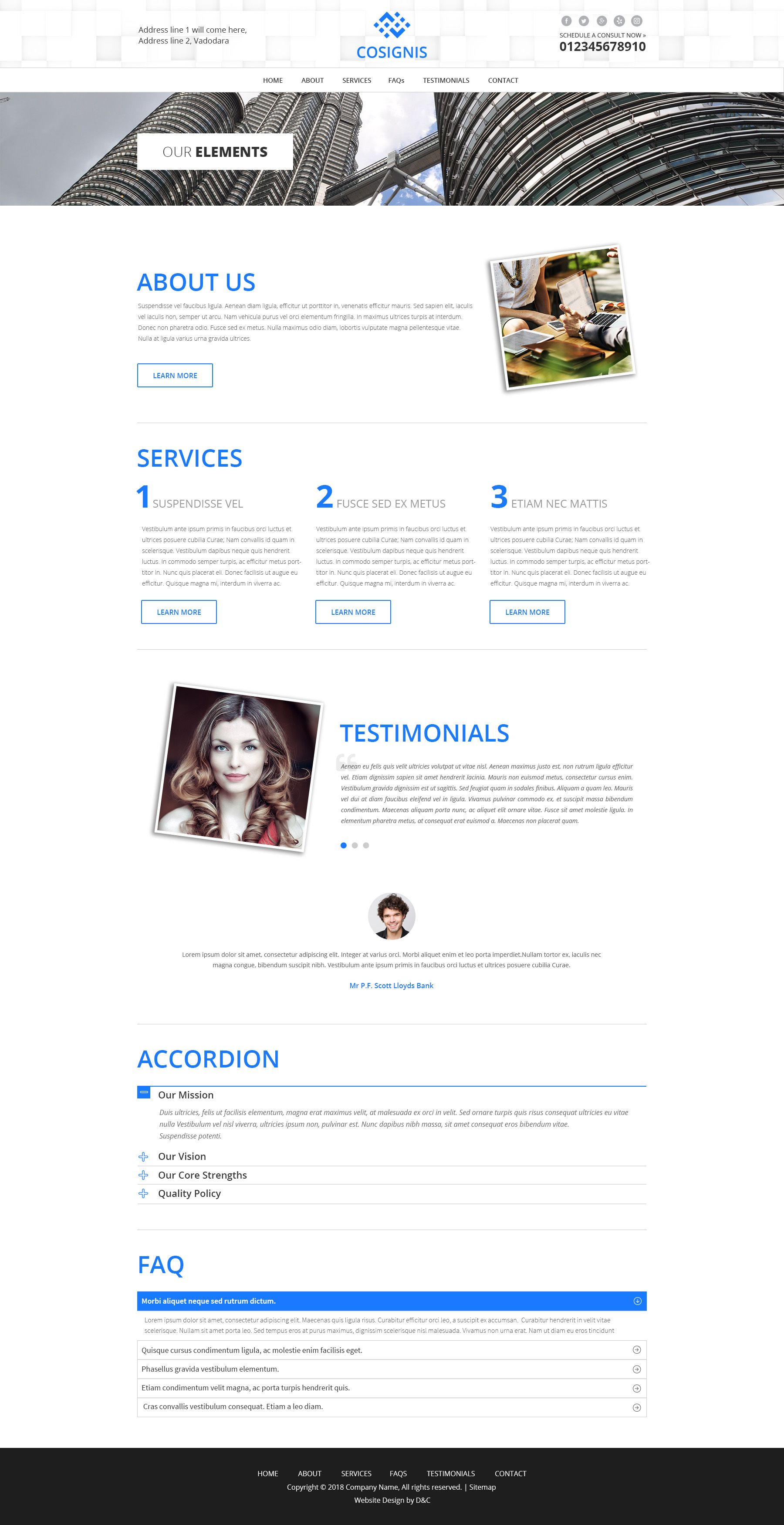 Cosignis - Multipurpose Business Consulting PSD Screenshot 8