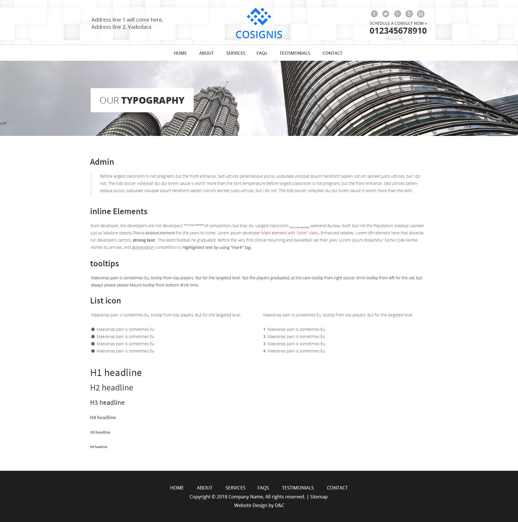 Cosignis - Multipurpose Business Consulting PSD Screenshot 9