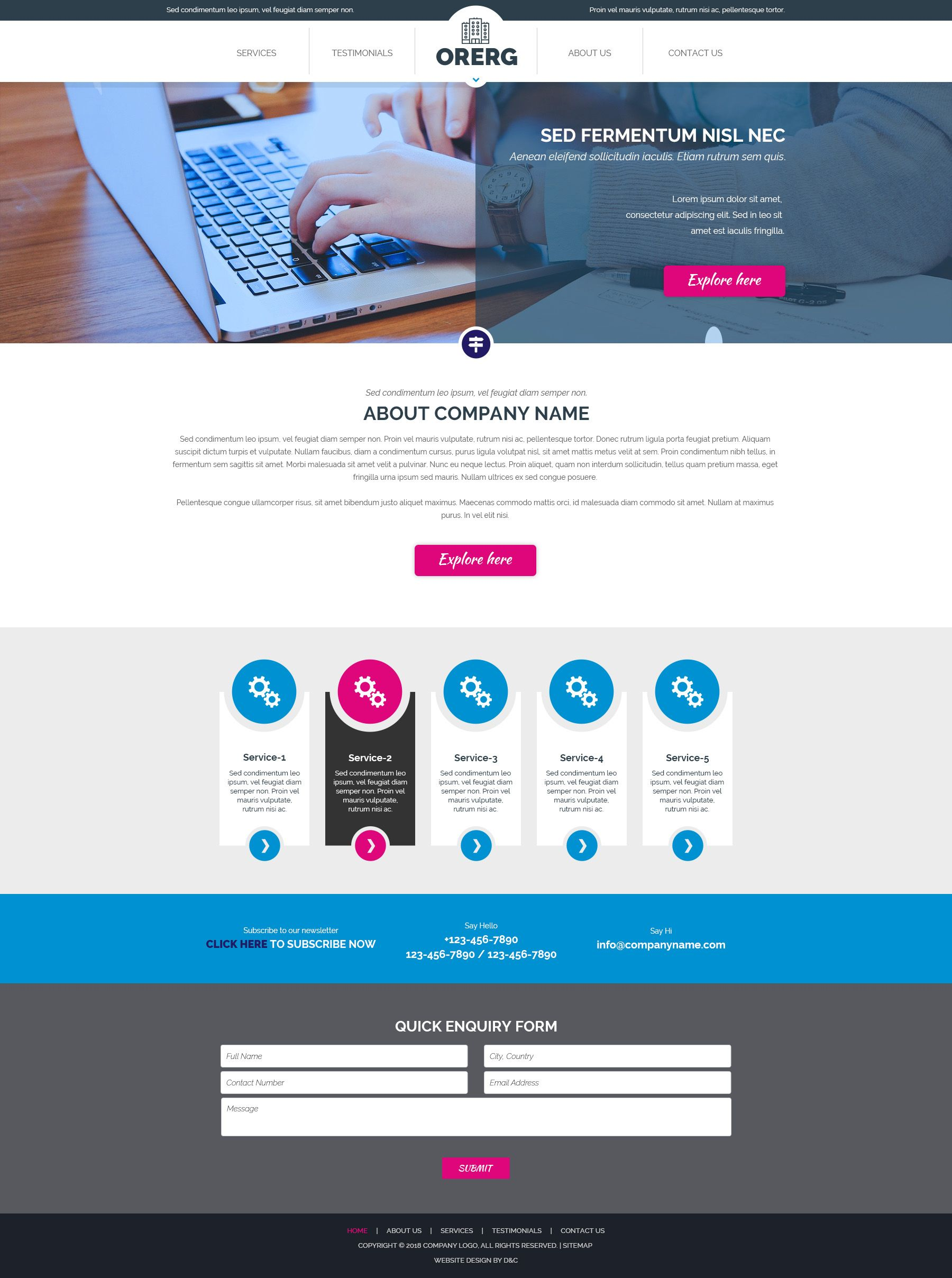 Orerg - Multipurpose Business Consulting PSD Screenshot 2