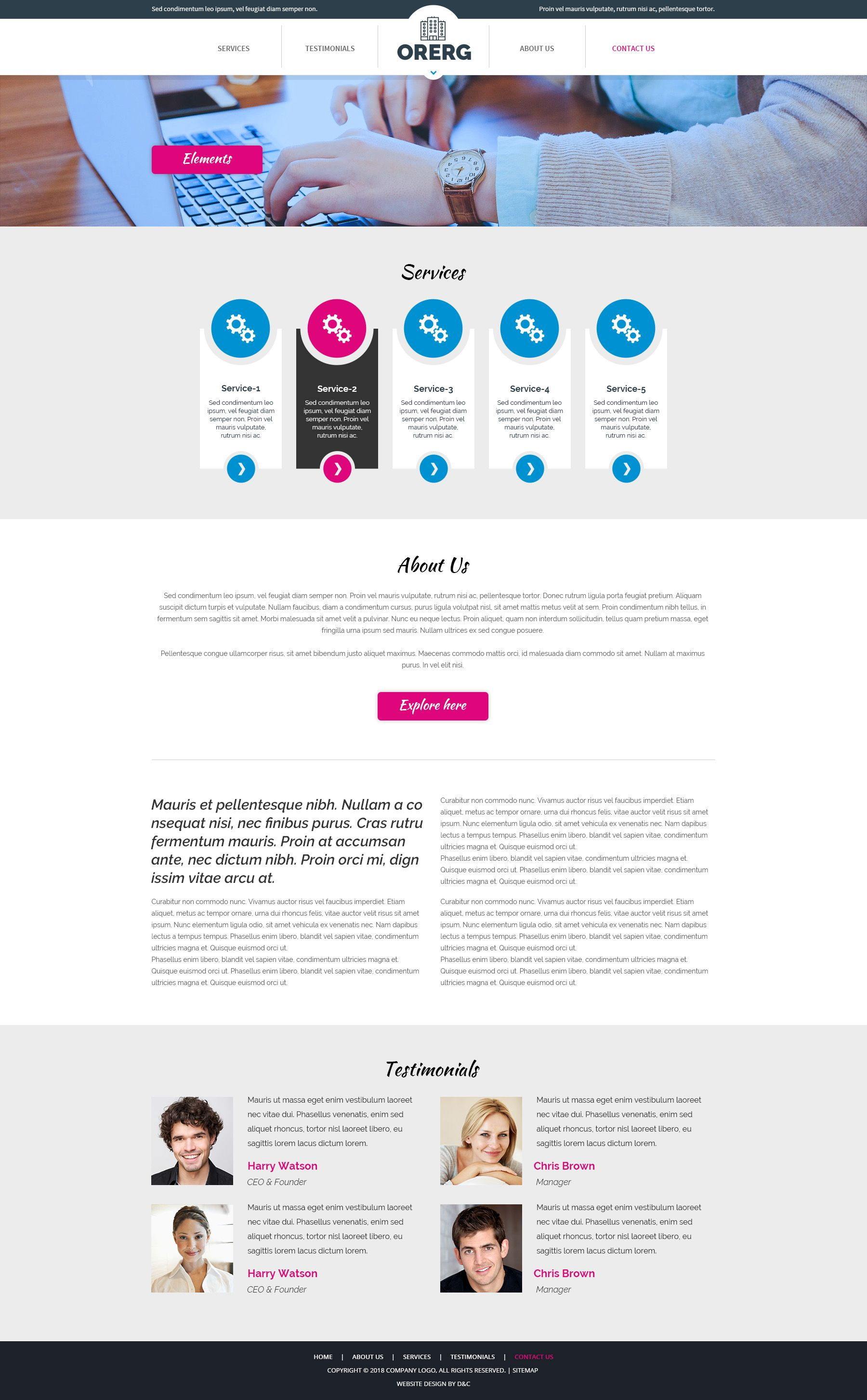 Orerg - Multipurpose Business Consulting PSD Screenshot 7