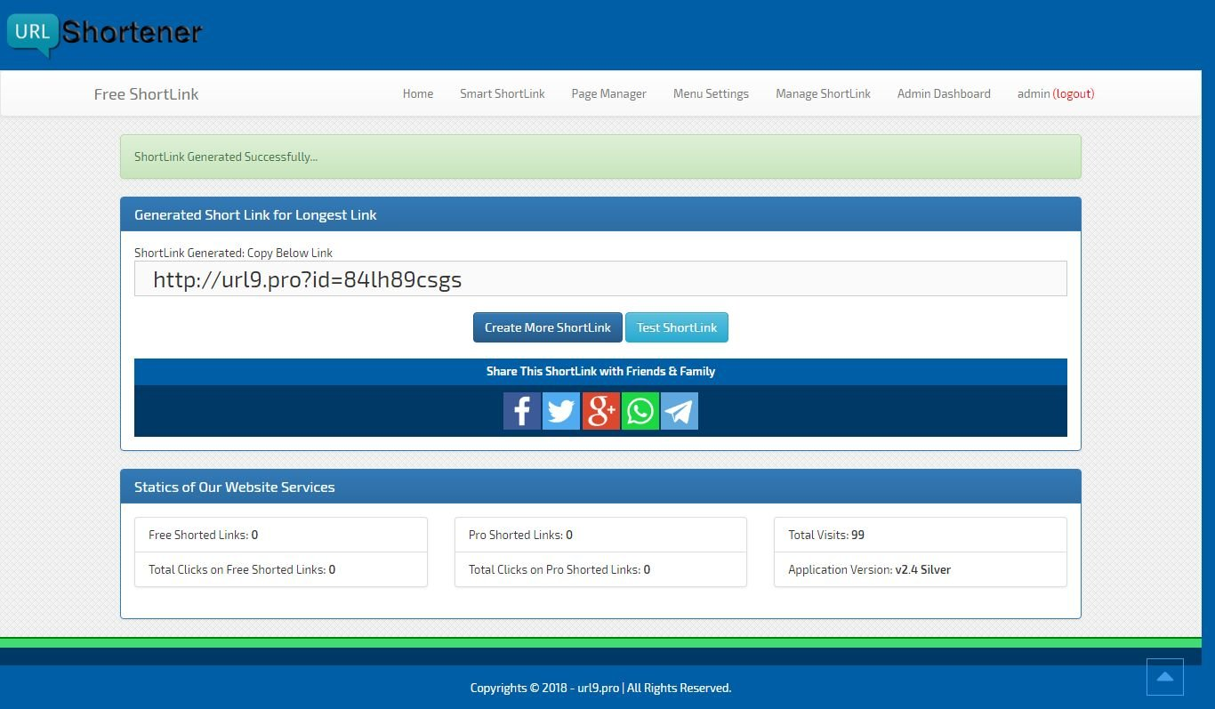 ShortLink - Premium URL Shortner ASP.Net Project Screenshot 14