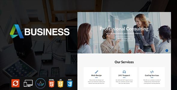 Business - Multipurpose  Website Template Screenshot 1