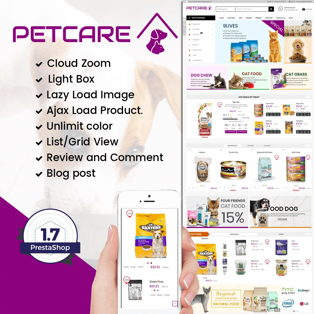 Pets and Animals Care Prestashop Theme Screenshot 1