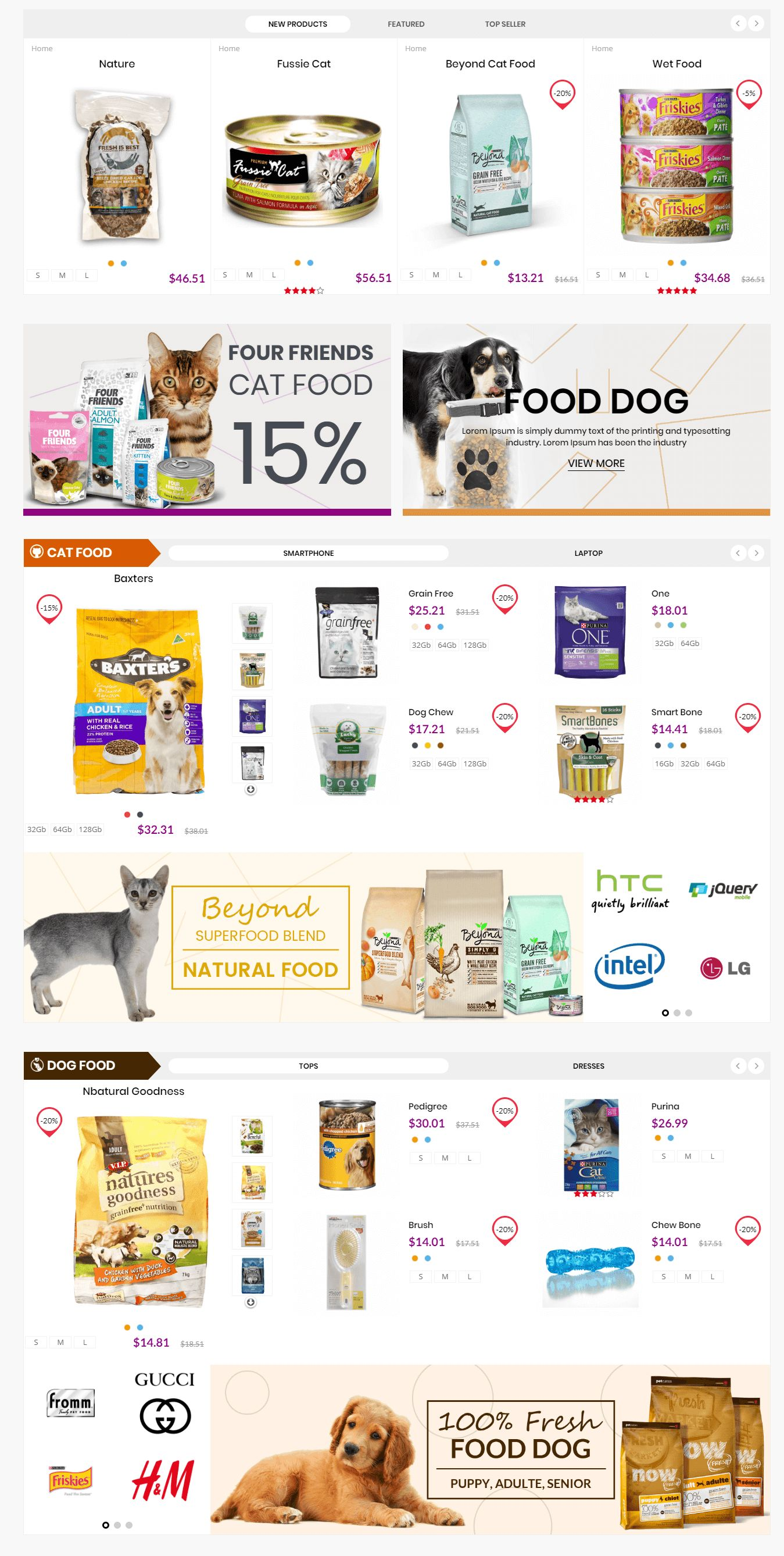 Pets and Animals Care Prestashop Theme Screenshot 3