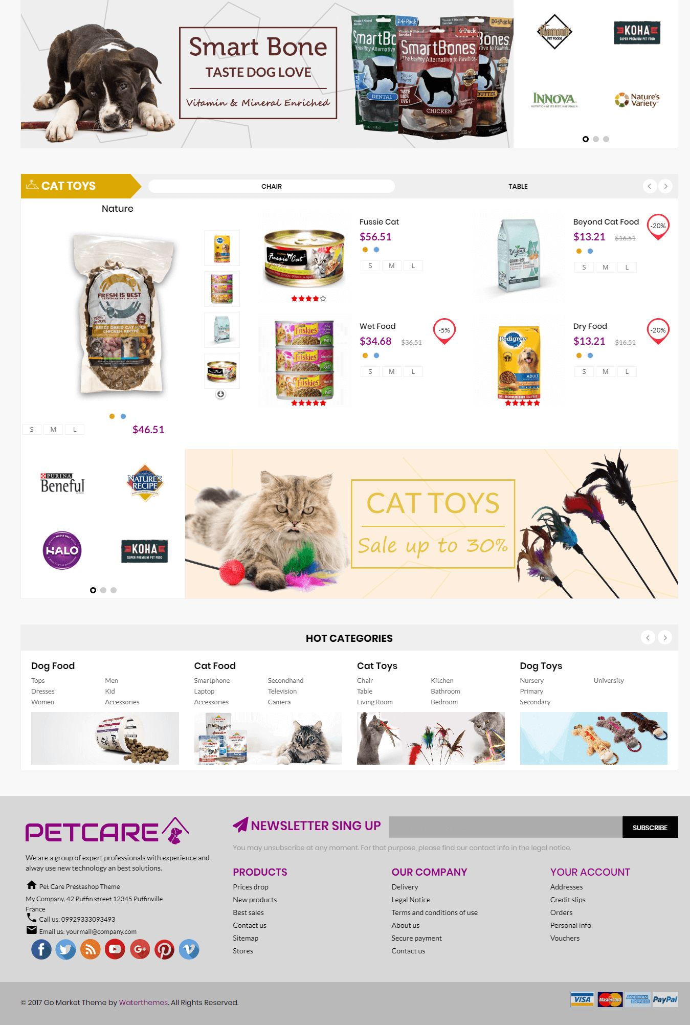 Pets and Animals Care Prestashop Theme Screenshot 4