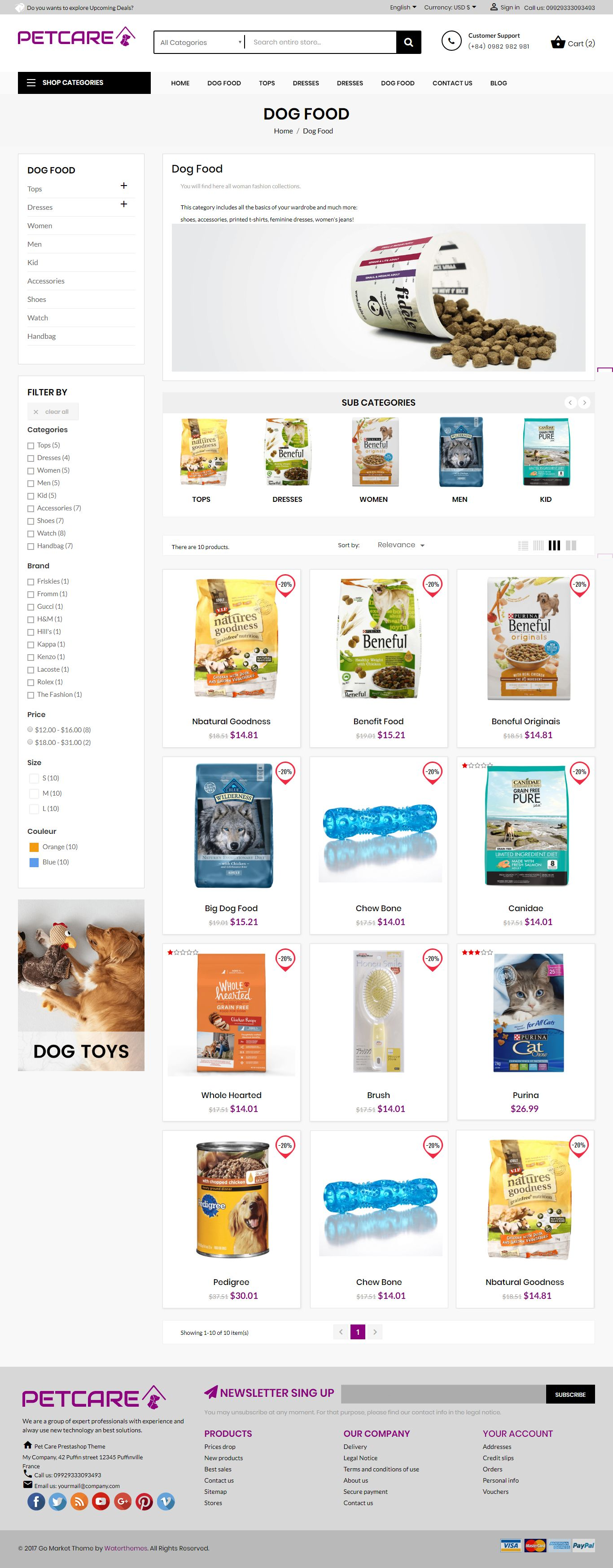 Pets and Animals Care Prestashop Theme Screenshot 5
