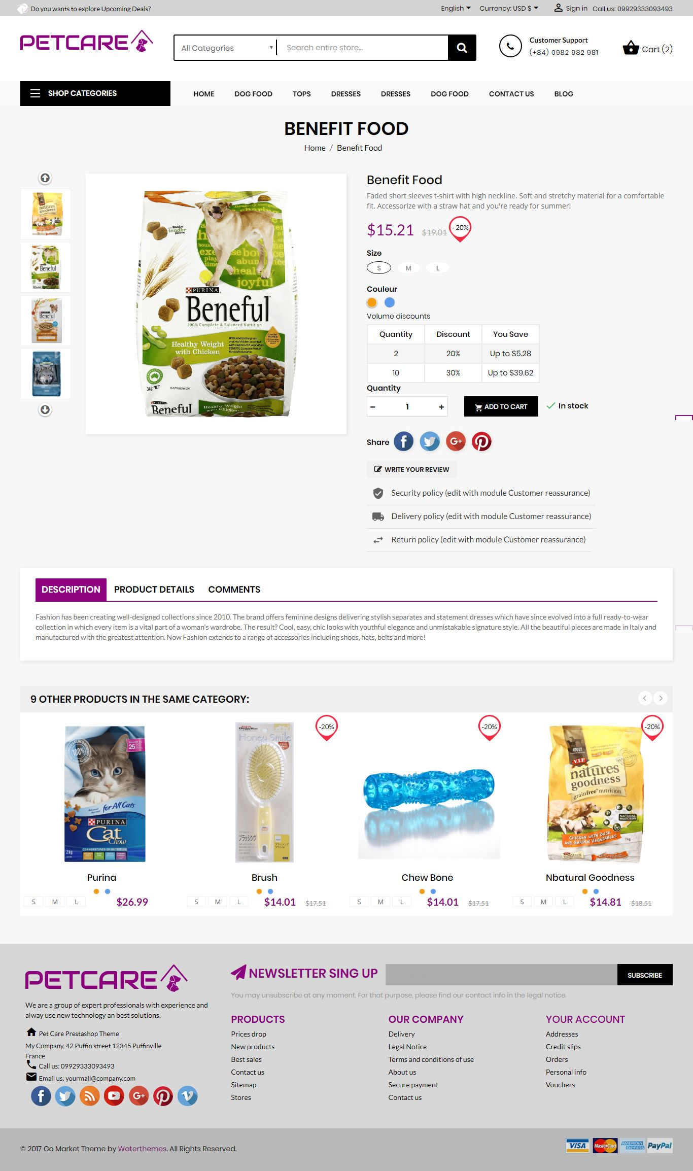 Pets and Animals Care Prestashop Theme Screenshot 6
