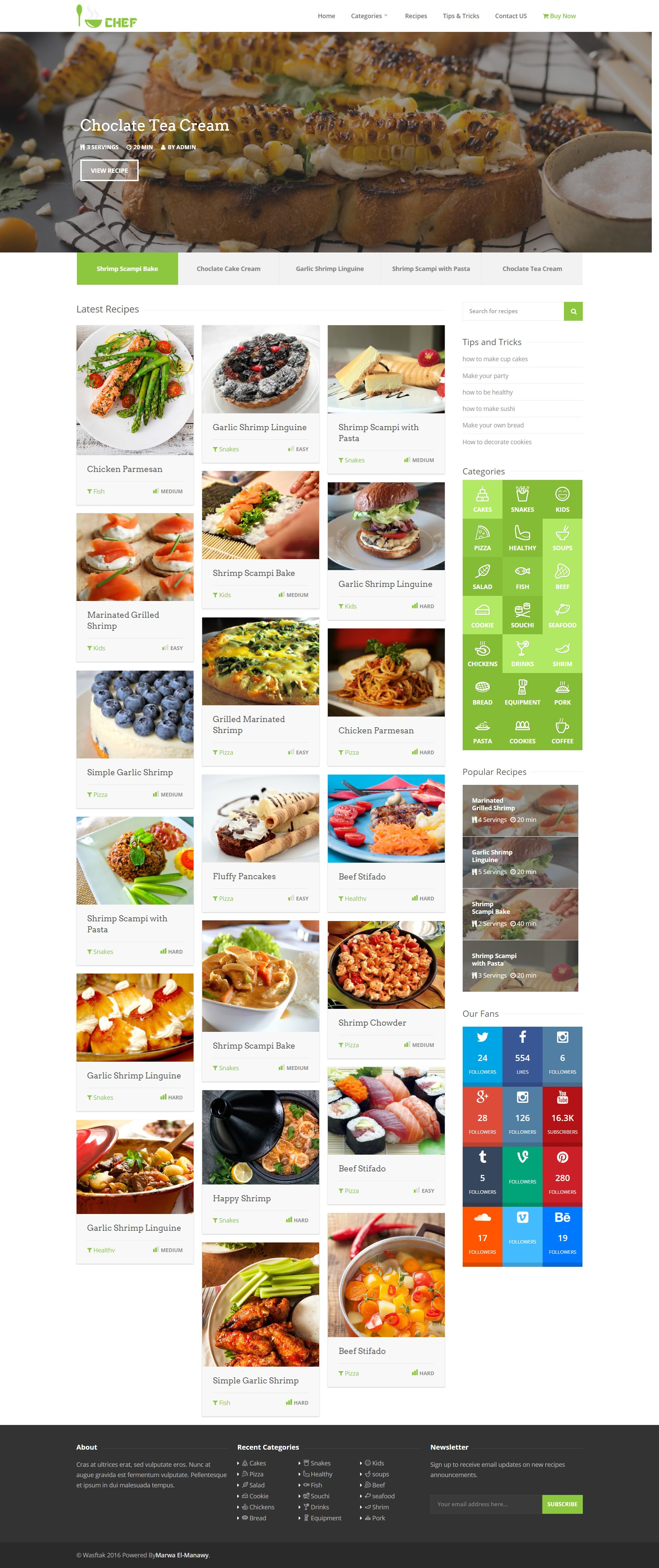 I-Chef - Recipes PHP Script Screenshot 1