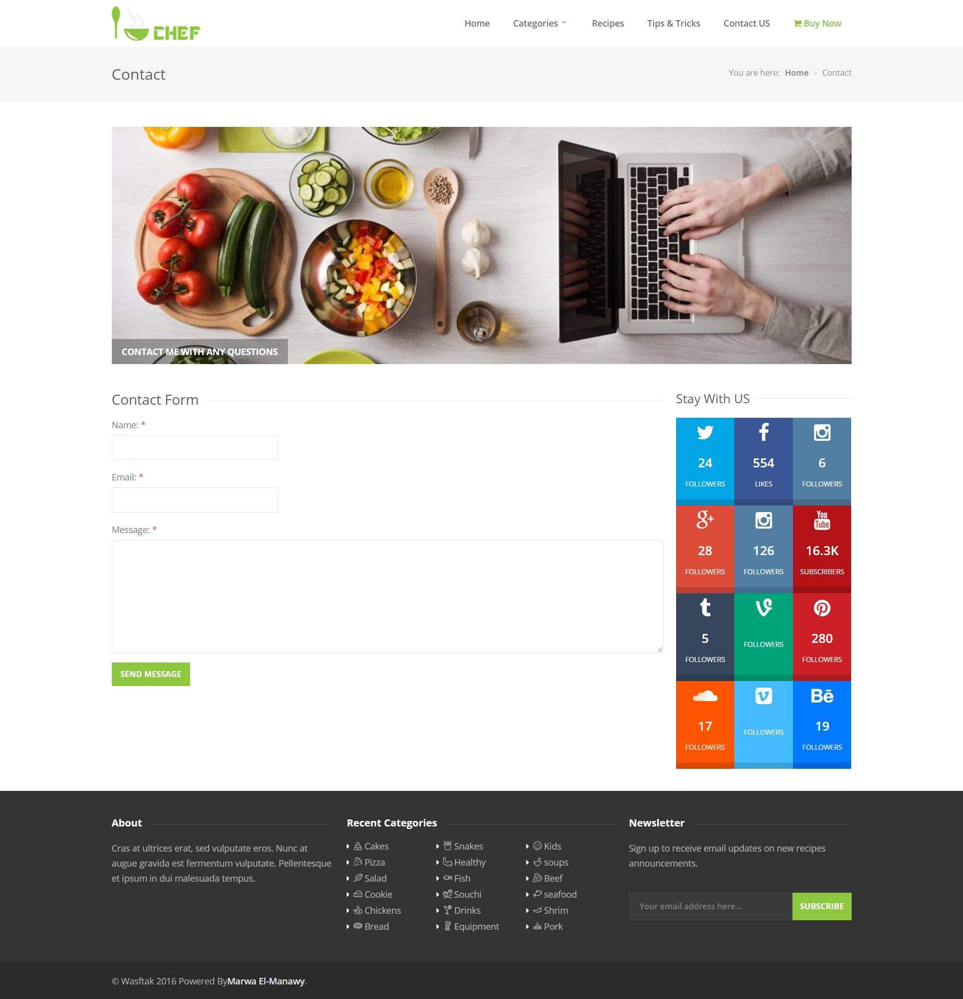 I-Chef - Recipes PHP Script Screenshot 7