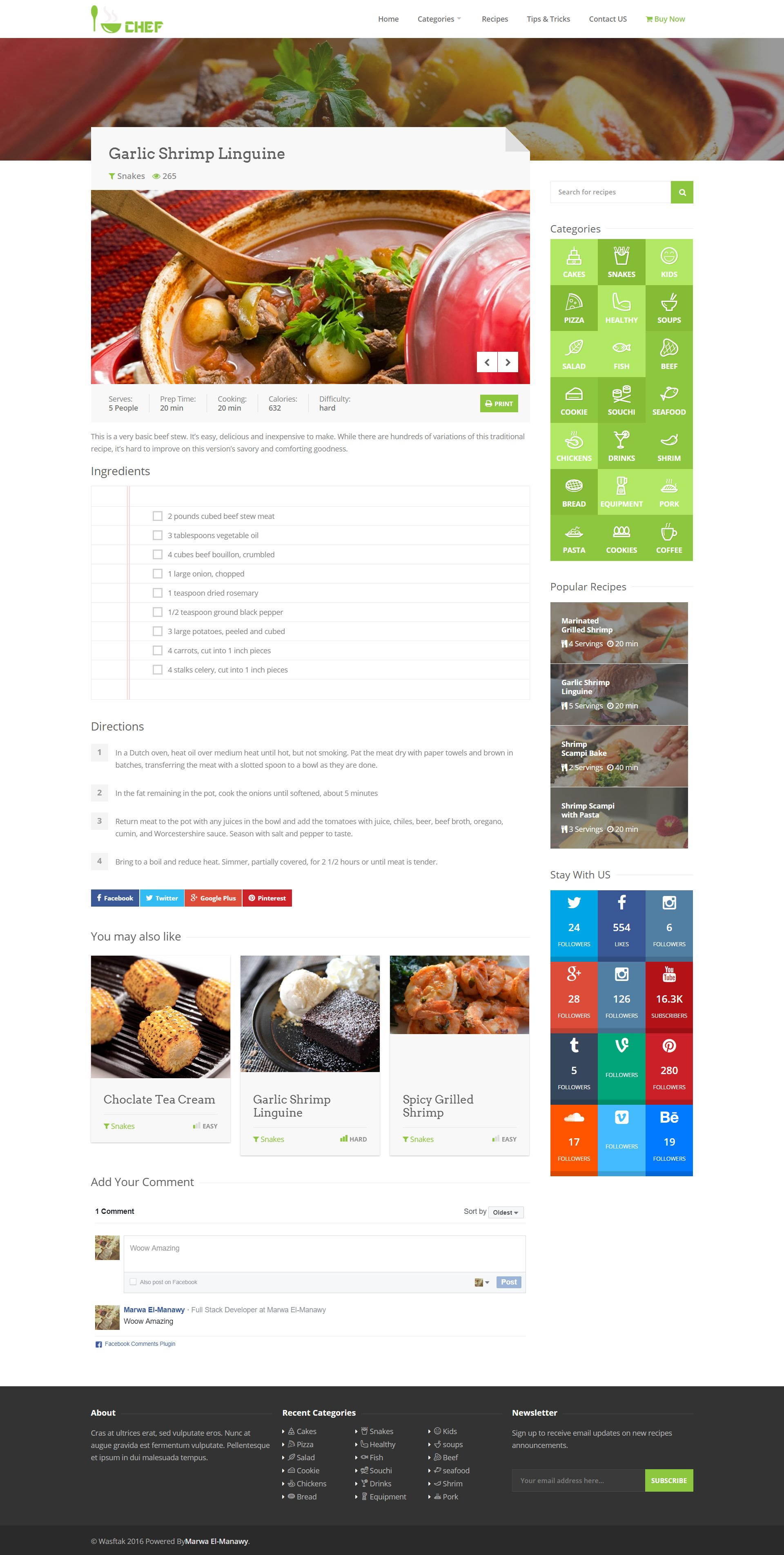 I-Chef - Recipes PHP Script Screenshot 8