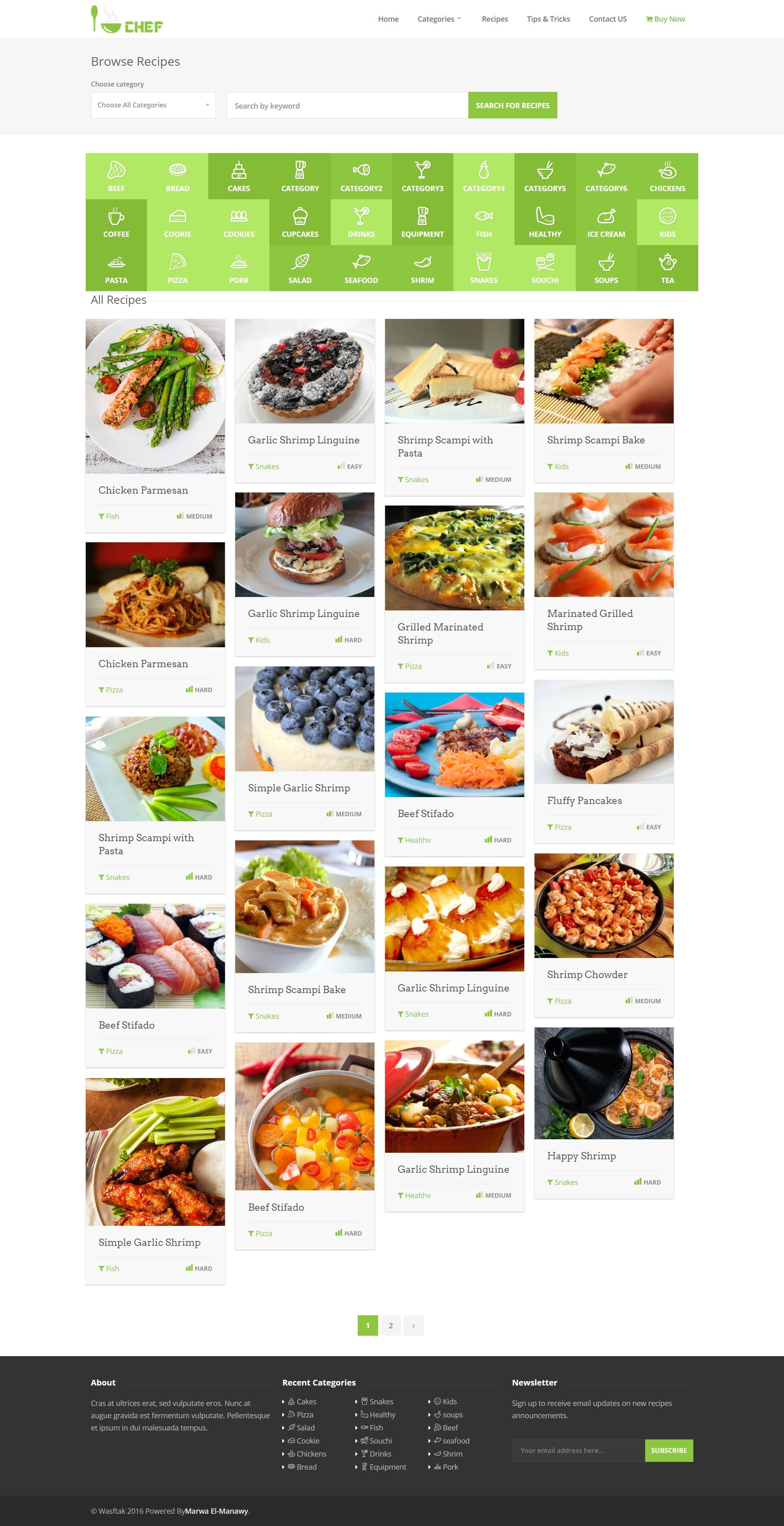 I-Chef - Recipes PHP Script Screenshot 9