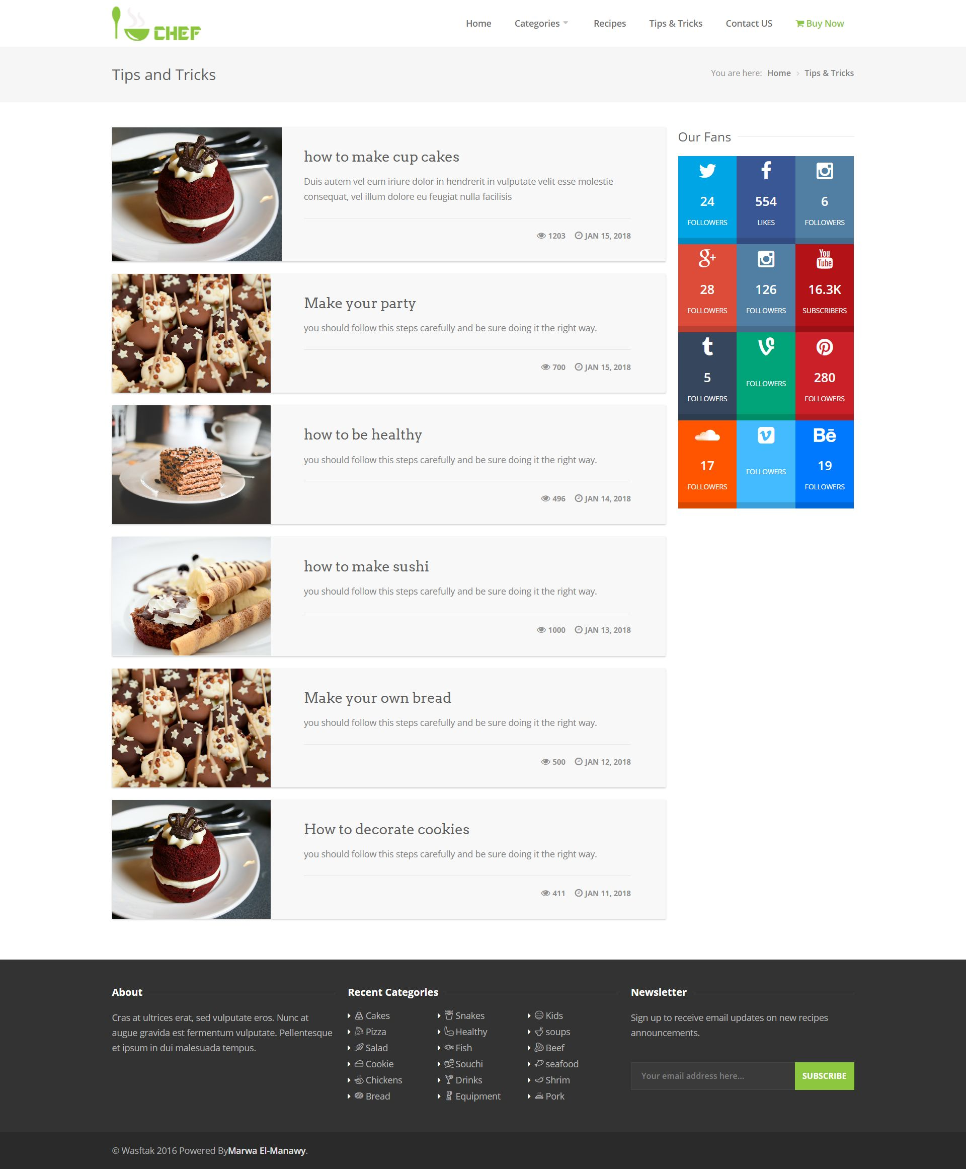 I-Chef - Recipes PHP Script Screenshot 10