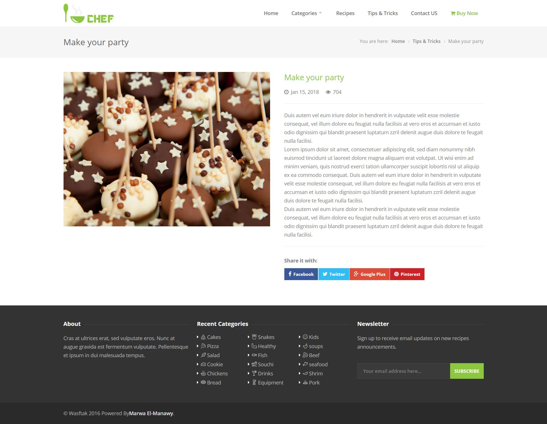 I-Chef - Recipes PHP Script Screenshot 11