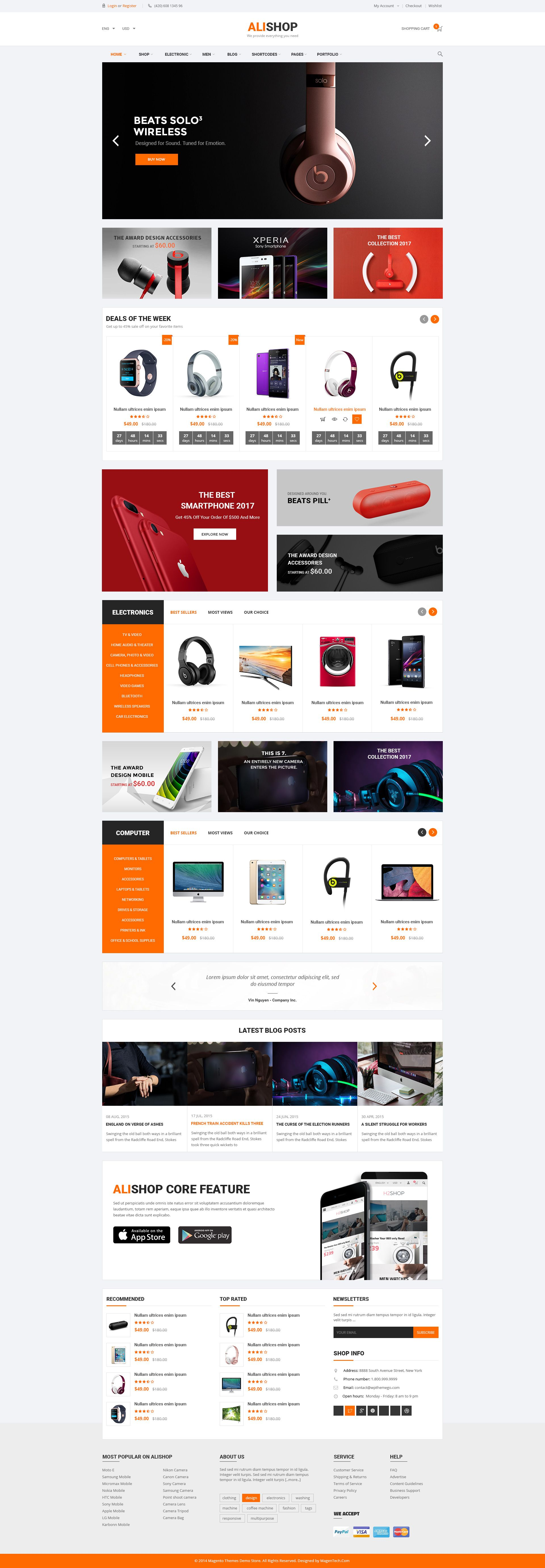 AliShop - Responsive WooCommerce Theme Screenshot 2