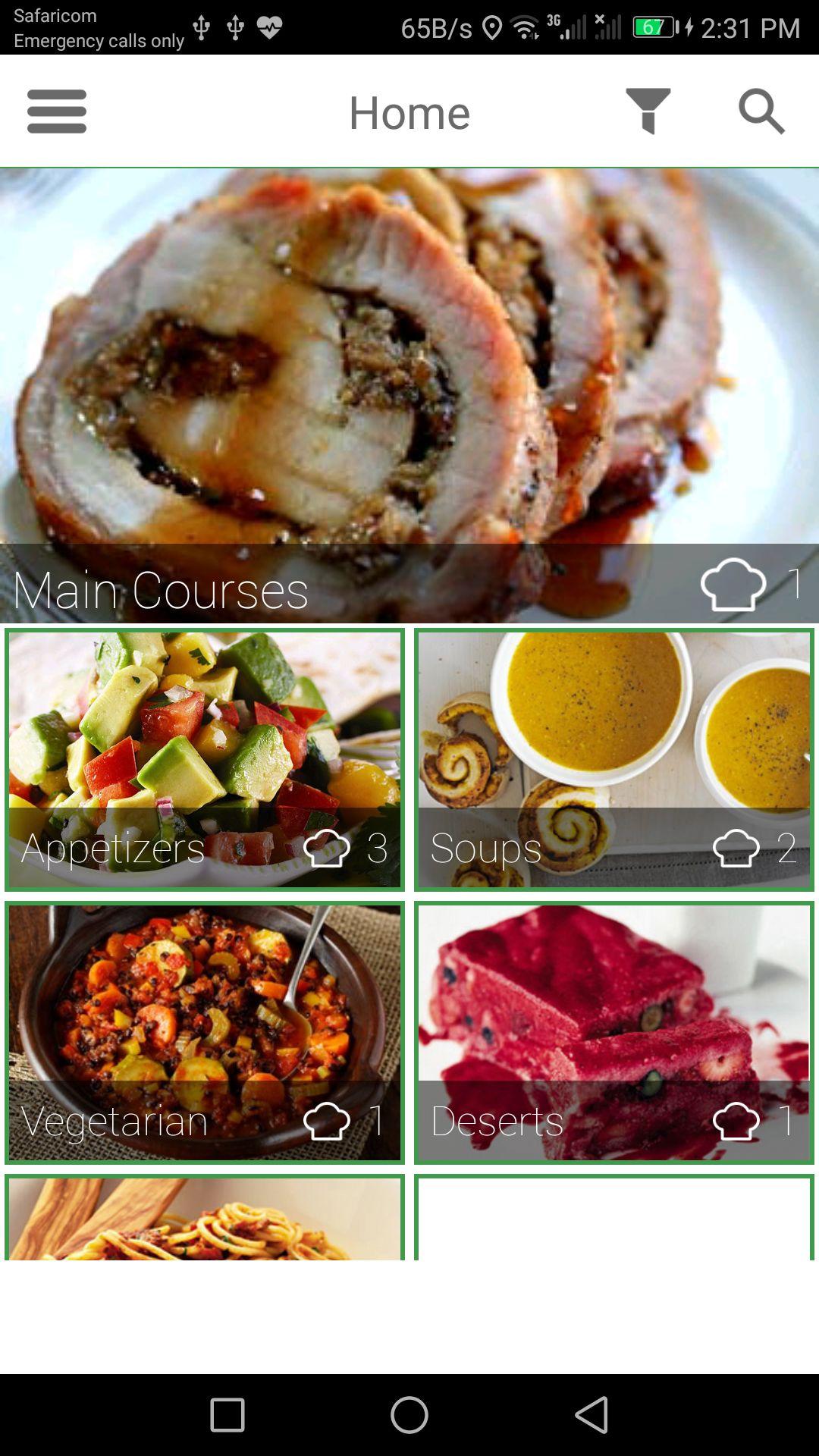 Recipe app android source code food app templates for android recipe app android source code screenshot 1 forumfinder Gallery