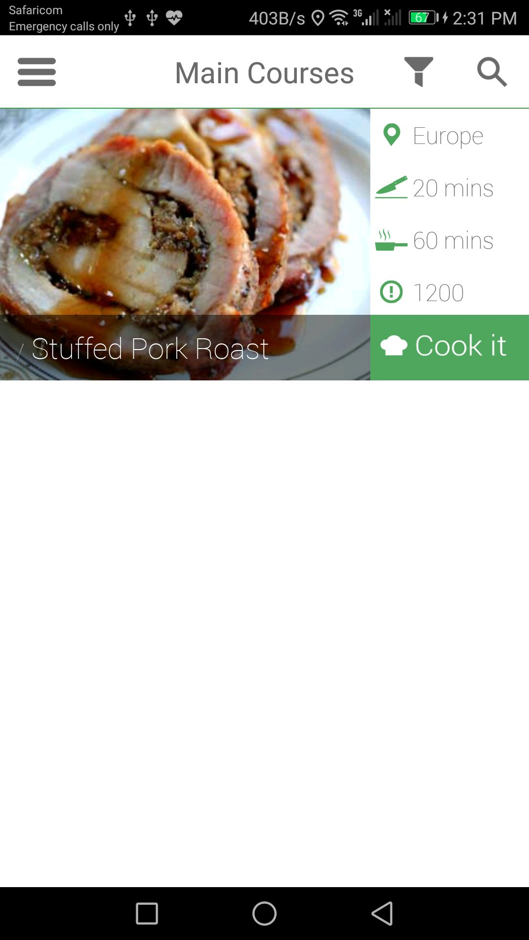 Recipe app android source code food app templates for android recipe app android source code screenshot 2 forumfinder Gallery